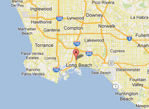 long beach california map california map