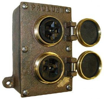 marine receptacle 2 20a 2p3w bronze pauluhn eaton crouse hinds 2584b 125