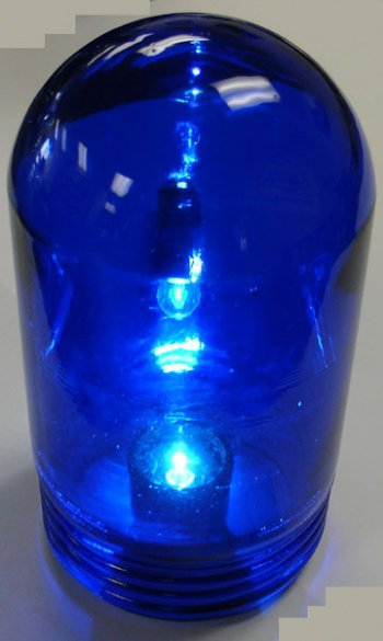 "VAPORPROOF GLASS GLOBE 6"" BLUE (604)"
