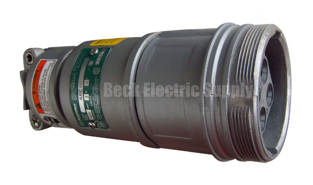 Connector 60a 3 Wire 4 Pole 600vac Appleton Arc6034bc