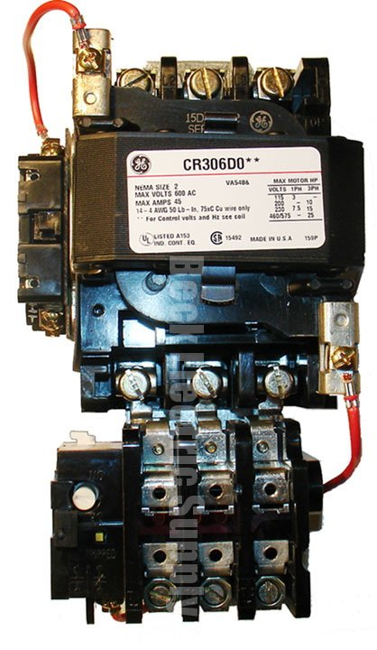 3 pole contactor wiring diagram starter magnetic size 2 open type ge cr306d002  starter magnetic size 2 open type ge cr306d002