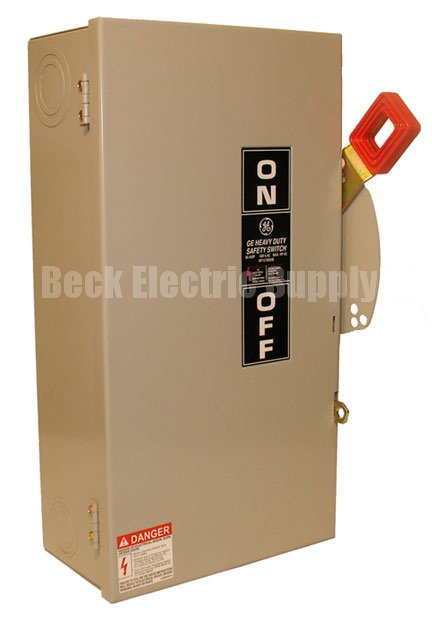 Safety Switch 60a 3p 600v No Fuse Ge Thn3362