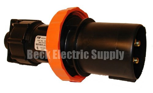 Male Plug 60a 250vac 3p4w Mipco 634mp2xt