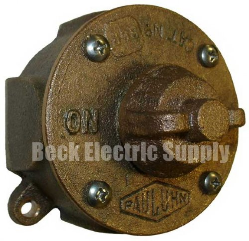 Rotary Switch 2p Watertight Brass Pauluhn 862b