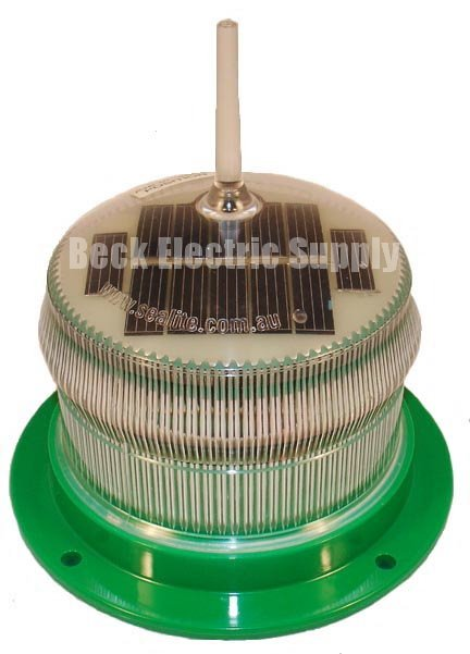 Solar Led Marine Light Hazard Marker Light Green 1 2nm