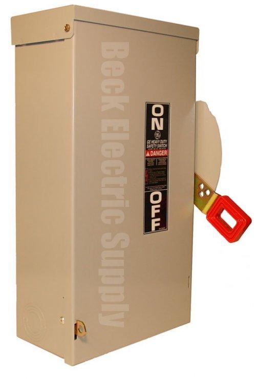 Safety Switch 100a 3p 600v Nema 3r Ge Thn3363r