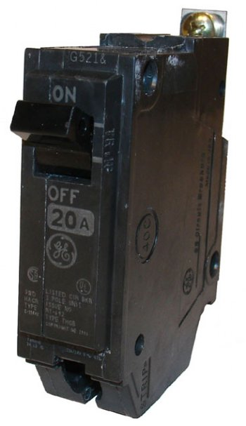 Cooper Electric Supply >> CIRCUIT BREAKER 20A 1P 10KAIC GE THQB1120
