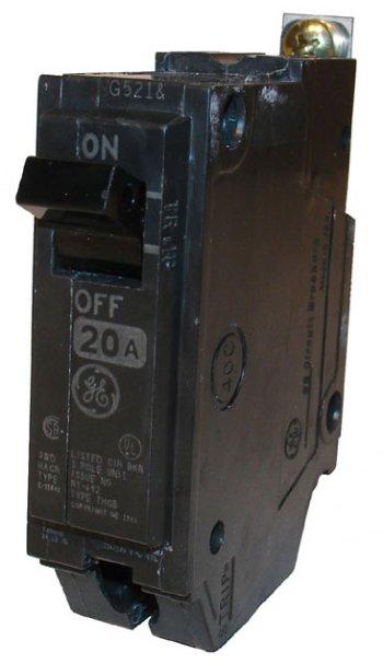 Circuit Breaker 20a 1p 10kaic Ge Thqb1120